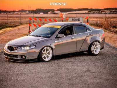2004 Acura TSX - 18x9.5 10mm - Cosmis Racing Xt-006r - Coilovers - 225/40R18