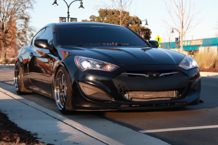 2013 Hyundai Genesis Coupe - 19x9.5 22mm - Aodhan Ds01 - Coilovers - 225/35R19