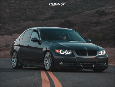 2006 BMW 330i - 18x8 34mm - BMW Style 197 - Coilovers - 225/40R18