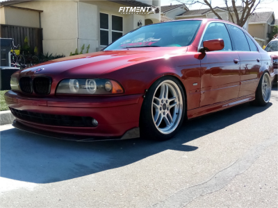 2001 BMW 525i - 18x8 20mm - BMW Style 37 - Coilovers - 225/40R18