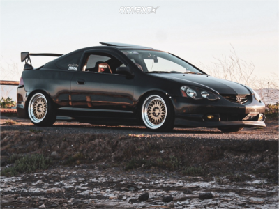 2004 Acura RSX - 17x9 35mm - Aodhan Ah05 - Coilovers - 205/35R17