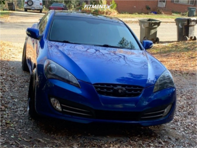 2010 Hyundai Genesis Coupe - 18x8.5 35mm - Aodhan DS01 - Stock Suspension - 245/40R18