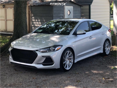 2018 Hyundai Elantra - 18x8.5 45mm - F1R F29 - Stock Suspension - 225/40R18