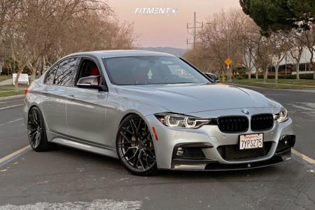 2017 BMW 340i - 20x9 35mm - Avant Garde M520-r - Lowering Springs - 245/35R20