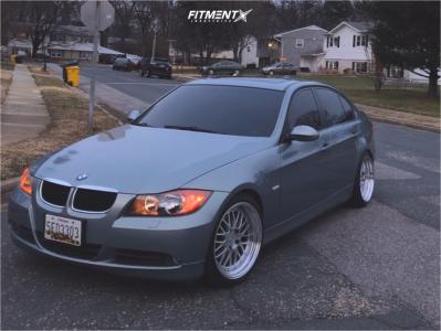 2006 BMW 325 - 18x9.5 35mm - ESR SR05 - Coilovers - 225/40R18