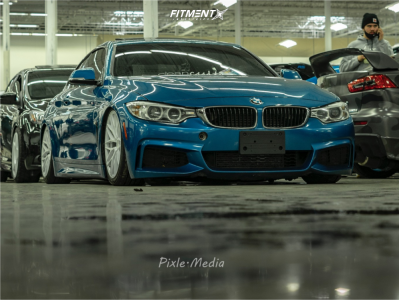 2014 BMW 435i xDrive - 18x8.5 34mm - Versus Racing Vs24 - Air Suspension - 225/40R18