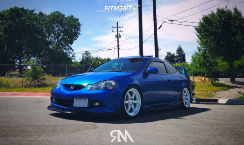 2005 Acura RSX - 18x8.5 35mm - Aodhan AH08 - Coilovers - 225/40R18