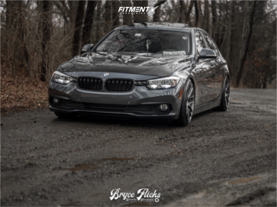 2017 BMW 320i - 18x9.5 35mm - Aodhan Ah-x - Coilovers - 225/40R18