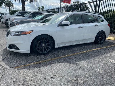 2012 Acura TSX - 18x9.5 38mm - F1R F27 - Coilovers - 255/35R18