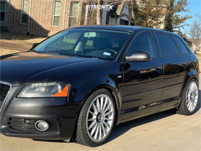 2011 Audi A3 - 18x8.5 45mm - Fifteen52 Podium - Coilovers - 225/40R18
