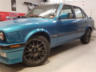 1991 BMW 325i - 17x7 35mm - XXR 530 - Stock Suspension - 205/45R17