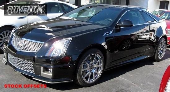 2011 Cadillac  - 19x9 51mm - Stock Stock - Stock Suspension - 255/40R19