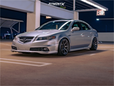 2008 Acura TL - 18x9.5 15mm - MB Battles - Coilovers - 215/40R18