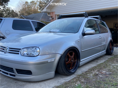 2002 Volkswagen GTI - 17x9 41mm - OZ Racing Mito - Coilovers - 195/45R17
