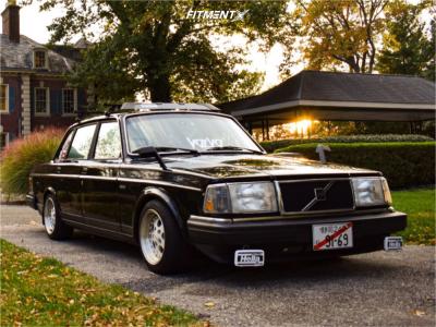 1991 Volvo 240 - 15x8 25mm - American Racing Gambler - Lowering Springs - 195/50R15