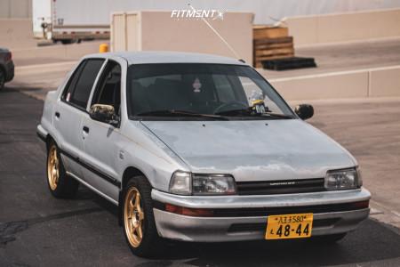 1992 Daihatsu Charade - 15x6.5 35mm - AVID1 Av8 - Stock Suspension - 195/45R15