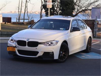 2014 BMW 328i xDrive - 18x7.5 35mm - Aodhan Ah-x - Stock Suspension - 235/40R18