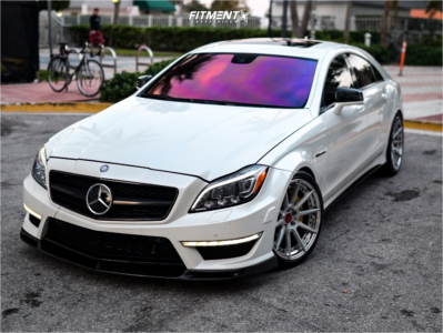 2012 Mercedes-Benz CLS63 AMG - 19x9.5 20mm - BC FORGED Hcs04s - Lowering Springs - 255/35R19