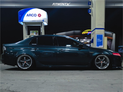 2005 Acura TL - 18x9.5 20mm - Work Vs Kf - Coilovers - 215/40R18