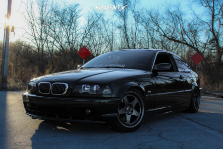 2001 BMW 325Ci - 17x9 35mm - Kansei Knp - Coilovers - 235/40R17
