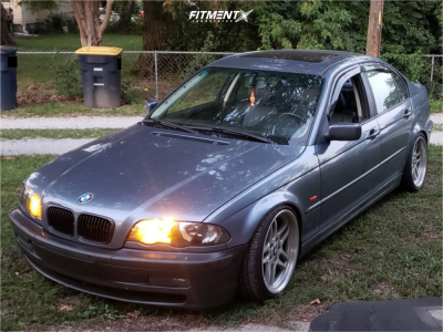 2001 BMW 325i - 18x8 13mm - BMW Style 37 - Coilovers - 215/45R18
