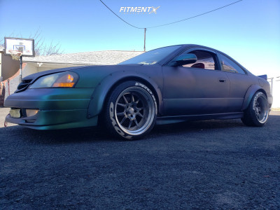 2001 Acura CL - 18x10 -25mm - Rocket Racing Attack - Coilovers - 235/45R18