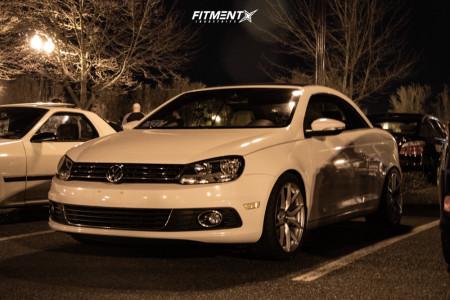 2012 Volkswagen Eos - 18x8.5 35mm - Aodhan Aff7 - Lowering Springs - 255/35R18