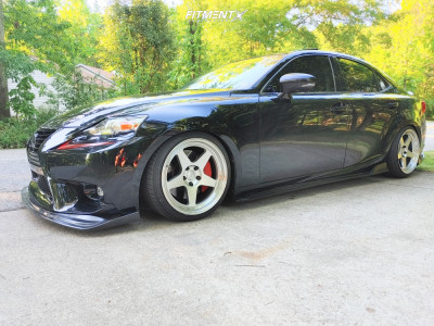 2016 Lexus IS200t - 18x9.5 22mm - Kansei Knp - Coilovers - 215/40R18