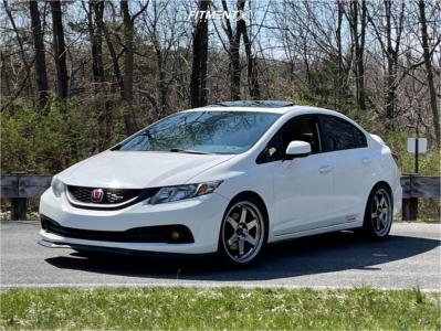2013 Honda Civic - 18x8 35mm - AVID1 AV6 - Lowering Springs - 225/40R18