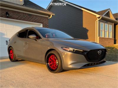 2020 Mazda 3 - 18x8.5 35mm - F1R F21 - Stock Suspension - 215/45R18