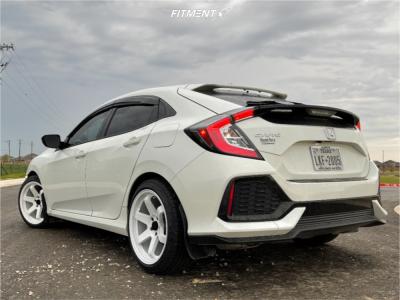 2018 Honda Civic - 18x9.5 24mm - AVID1 AV6 - Stock Suspension - 235/40R18