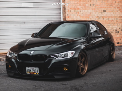 2014 BMW 328i xDrive - 18x9.5 22mm - Kansei Knp - Coilovers - 225/35R18