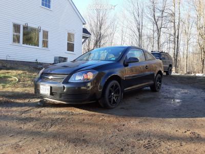 2008 Chevrolet Cobalt - 16x7 40mm - Raceline Evo - Stock Suspension - 205/45R16