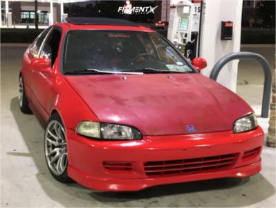 1995 Honda Civic - 16x8.25 25mm - Jnc Jnc030 - Coilovers - 205/45R16