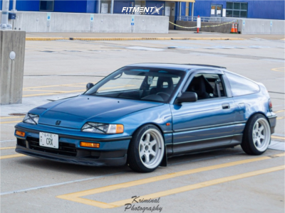1991 Honda CRX - 16x8 20mm - Rota Grid - Coilovers - 195/40R16