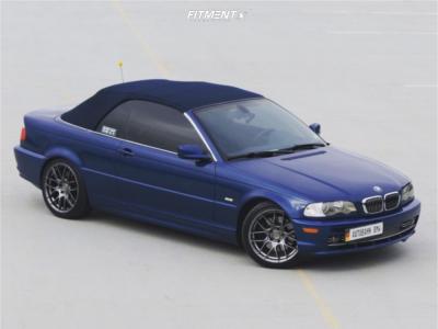 2002 BMW 330Ci - 18x8.5 35mm - Aodhan Ah-x - Lowering Springs - 235/40R18