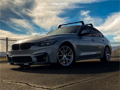 2016 BMW 328i - 18x8.5 35mm - Aodhan Aff7 - Stock Suspension - 225/35R18
