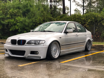 2004 BMW 325i - 17x8 20mm - BBS Rc090 - Coilovers - 205/40R17