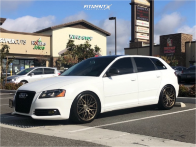 2010 Audi A3 - 18x8.5 42mm - F1R F103 - Coilovers - 235/40R18