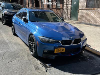 2016 BMW 328i xDrive - 19x8.5 30mm - ESR Forged Rf15 - Lowering Springs - 225/40R19