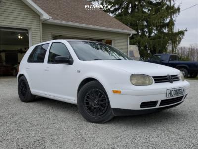 2000 Volkswagen Golf - 17x7 38mm - XXR 521 - Stock Suspension - 225/45R17