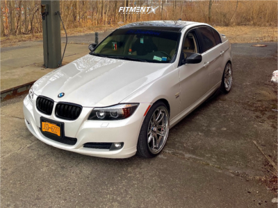 2011 BMW 328i xDrive - 19x9.5 22mm - Aodhan Ds02 - Lowering Springs - 235/45R19