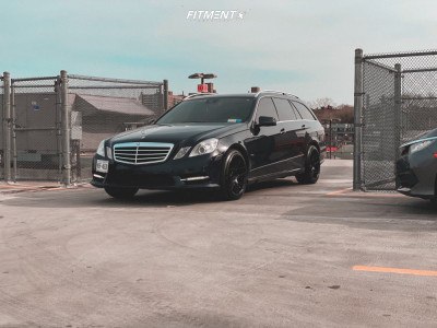 2012 Mercedes-Benz E350 - 18x9.5 35mm - Aodhan Ah-x - Stock Suspension - 245/40R18