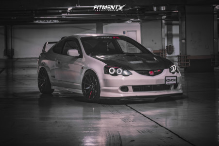 2003 Acura RSX - 18x9 30mm - Japan Racing Jr11 - Coilovers - 215/40R18