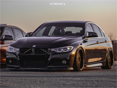 2015 BMW 335i xDrive - 18x10 22mm - Work Vsxx - Coilovers - 225/35R18