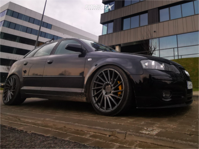 2006 Audi A3 - 19x8.5 45mm - Keskin Kt 17 - Coilovers - 225/35R19