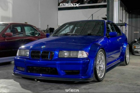 1997 BMW 320i - 18x8.5 13mm - BBS Rk - Coilovers - 255/35R18