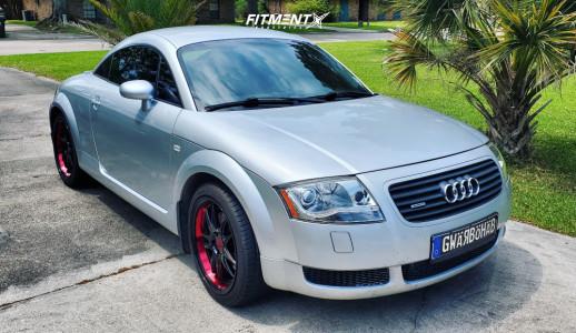 2001 Audi TT Quattro - 18x8.5 38mm - F1R 102 - Stock Suspension - 235/40R18