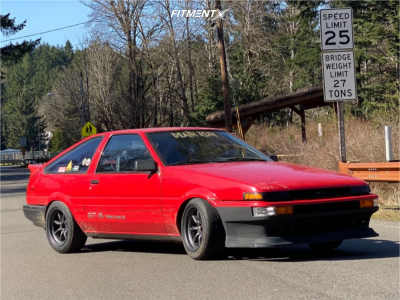 1985 Toyota Corolla - 15x8 0mm - Rota Rkr - Coilovers - 205/50R15