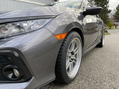 2017 Honda Civic - 18x9 30mm - Enkei Rpf1 - Stock Suspension - 245/40R18